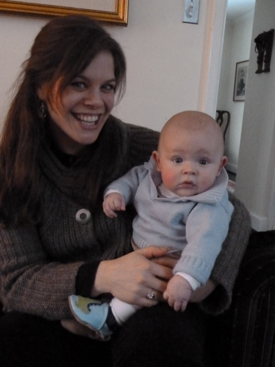 with auntie Laura