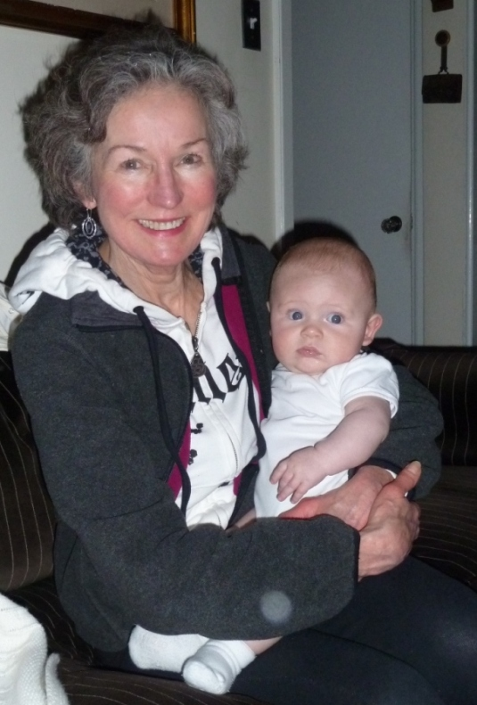 with auntie Maggie